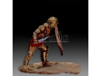 AMATI SOLDATINO FIGURINO 75MM GLADIATORE SECUTOR MINIATURA IN METALLO