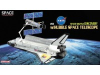 DRAGON MODELLINO 1:400 NASA SPACE SHUTTLE DISCOVERY WITH HUBBLE SPACE TELESCOPE