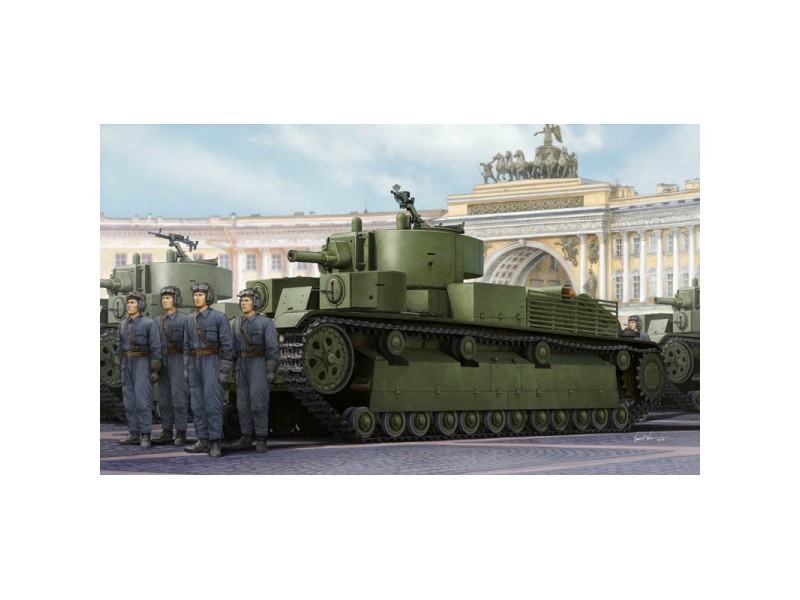 HOBBY BOSS  MODELLINO DA ASSEMBLARE CARRO ARMATO SOVIET T-28E MEDIUM TANK 1 35