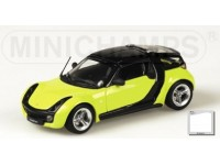 MODELLINO SMART ROADSTER COUPE' 2003 YELLOW & BLACK IN METALLO MINICHAMPS