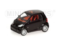 MODELLINO SMART FORTWO COUPE' 2007 BLACK IN METALLO MINICHAMPS