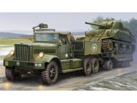MODELLINO US M19 TANK TRANSPORTER WITH SOFT TOP CAB IN KIT MERIT