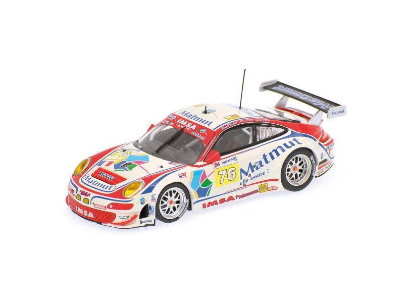 MODELLINO PORSCHE 911 GT3 RSR NARAC LONG 24H LE MANS 2009 IN METALLO MINICHAMPS