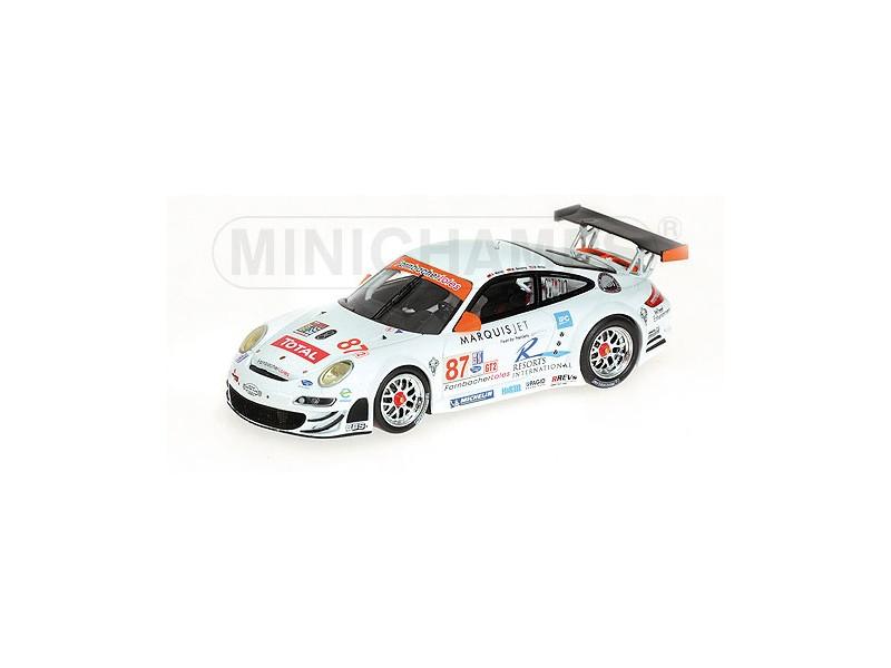 MODELLINO PORSCHE 911 GT3-RSR 12H SEBRING 2008 WERNER MILLER IN METALLO MINICHAM