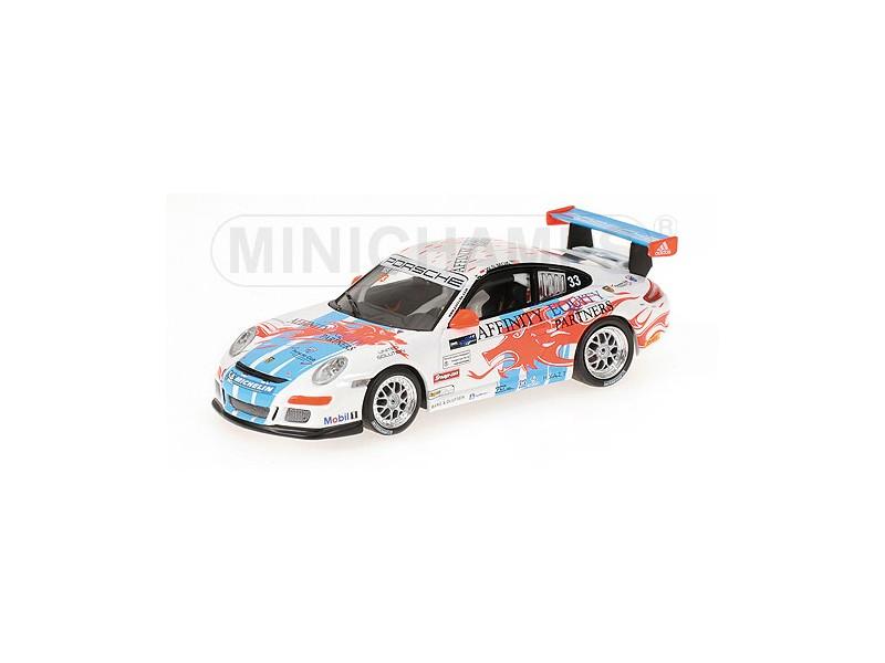 MODELLINO PORSCHE 911 GT3 CUP M. WENG SUN CARRERA CUP ASIA MACAU 2007 IN METALLO
