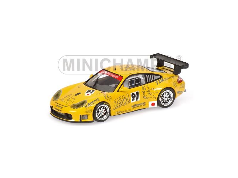MODELLINO PORSCHE 911 GT3 RSR TEAM T2M MOTORSPORT PRE-TEST 24H LE MANS 2006 IN M