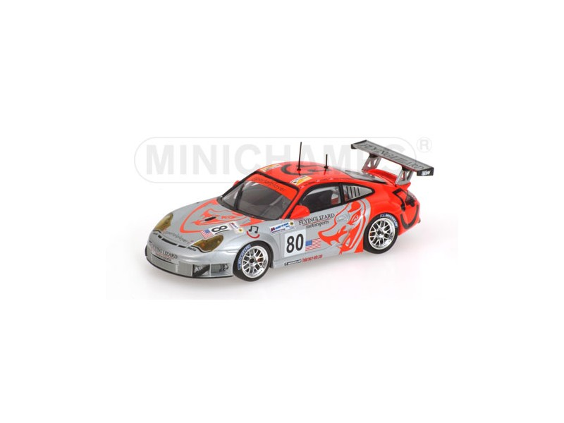 MODELLINO PORSCHE 911 GT3 RSR FLYING LIZARD MOTORSPORT 24H LE MANS 2006 IN METAL