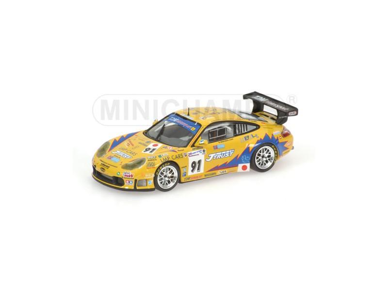 MODELLINO PORSCHE 911 GT3-RS T2M MOTORSPORT 24H LE MANS 2006 IN METALLO MINICHAM