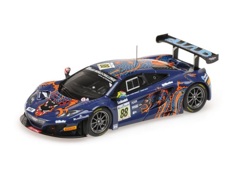 MODELLINO McLAREN MP4-12C GT3 VON RYAN RACING 24H SPA 2013 IN RESINA MINICHAMPS
