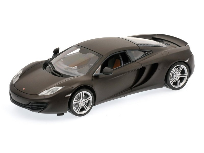 MODELLINO McLAREN MP4-12C 2011 noir OPACO IN METALLO MINICHAMPS