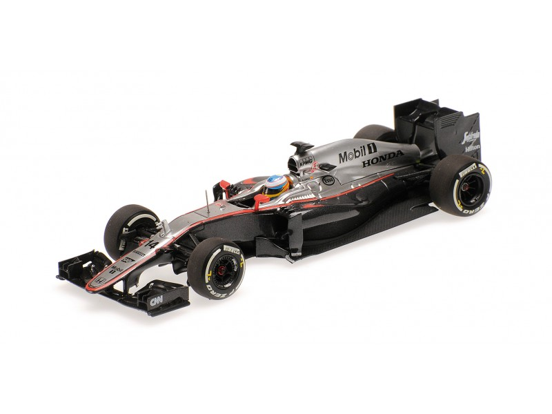MODELLINO McLAREN HONDA MP4 30 FERNANDO ALONSO GP CINA 2015 IN METALLO MINICHAMP