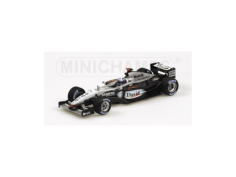MODELLINO MCLAREN MERCEDES MP4 17D DAVID COULTHARD 2003 IN METALLO MINICHAMPS