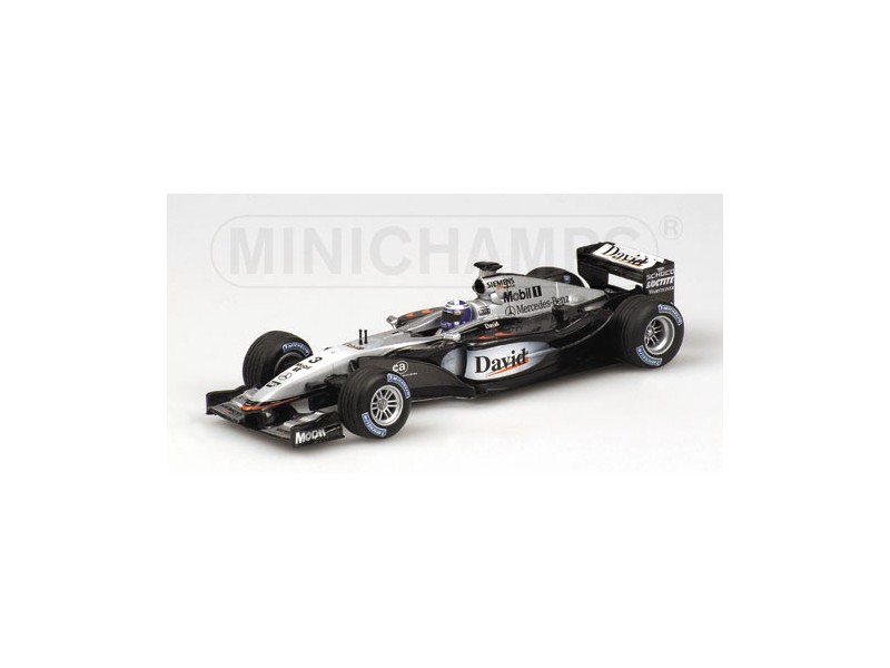 MODELLINO MCLAREN MERCEDES MP4 17 D. COULTHARD 2002 IN METALLO MINICHAMPS
