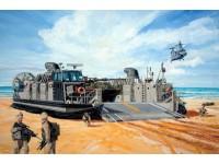 MODELLISMO TRUMPETER KIT MODELLINO USMC LANDING CRAFT AIR CUSHION 1/144