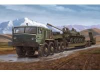 MODELLISMO MILITARE TRUMPETER MAZ-537 G WITH SEMI-TRAILER KIT MONTAGGIO 1/35
