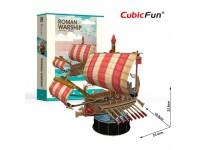 CUBICFUN MODELLINO NAVE DA GUERRA ROMANA IN PUZZLE 3D