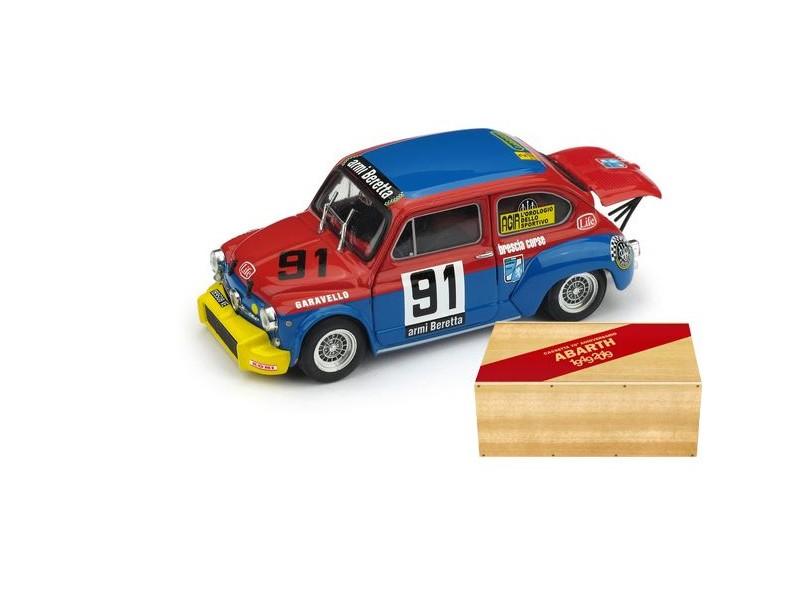 BRUMM 1/43 FIAT ABARTH 1000 COPPA CARRI 1973 MODELLINO