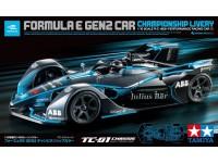 Tamiya RC 1/10 Formula E Gen2 Car Tc-01 Championship Livery modello radiocomandato