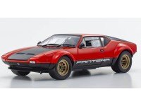 Kyosho 1/18 De Tomaso Pantera GT4 rossa nera modellino