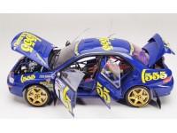 Sun Star 1/18 Subaru Impreza 555 n.1 vittoria Rallye Catalunya 1996 modellino apribile