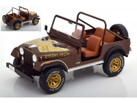 MODELCAR GROUP 1/18 JEEP CJ-7 RENEGADE GOLDEN EAGLE MARRONE SCURO MODELLINO