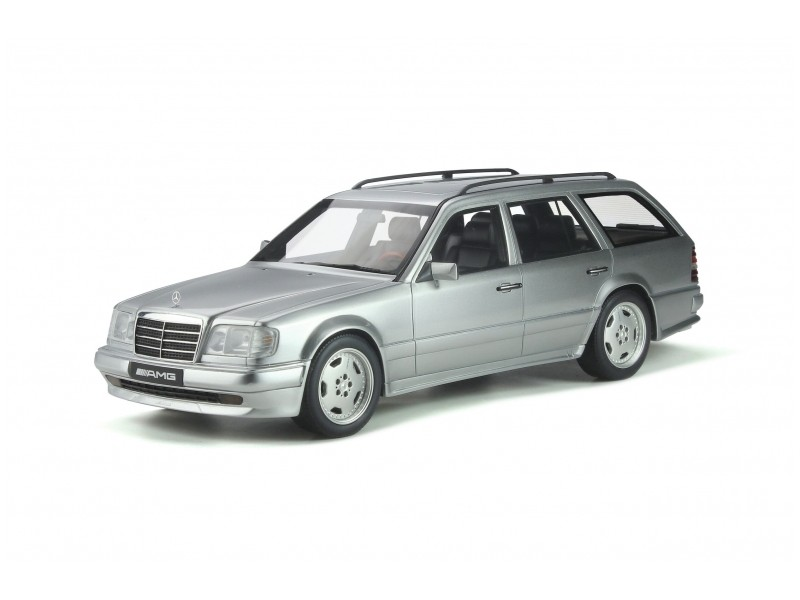 Ottomobile 1/18 Mercedes-Benz S124 E36 AMG 1995 Brilliant Silver modellino