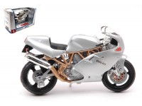 BURAGO 1/18 DUCATI SUPERSPORT 900FE COLOR ARGENTO MODELLINO