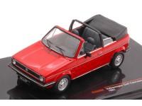 IXO MODEL 1/43 VW GOLF I CABRIO ROSSA 1981 MODELLINO