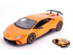 BURAGO 1/24 LAMBORGHINI HURACAN PERFORMANTE METALLIC ORANGE MODELLINO