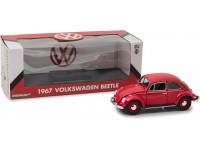 Greenlight 1/18 1967 Volkswagen Beetle Candy Apple Red modellino