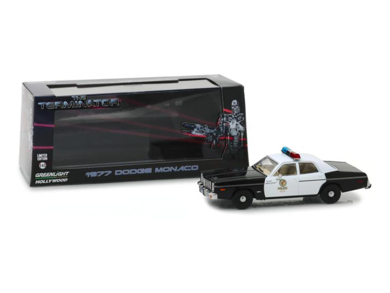 Greenlight 1/43 The Terminator (1984) Dodge Monaco Metropolitan Police modellino