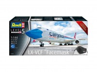 """Revell 1/144 Boeing 747-8F CARGOLUX LX-VCF """"Facemask"""" scatola di montaggio"""