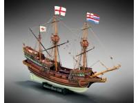 Mamoli 1/53 galeone Inglese Golden Hind kit di montaggio in legno