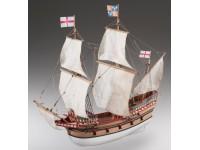 Dusek 1/72 galeone inglese Golden Hind kit modellismo navale in legno