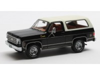 Matrix Scale Models 1/43 Chevrolet Blazer K5 nero/bianco 1978 modellino
