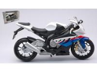 MAISTO 1/12 BMW S 1000 RR BIANCA MODELLINO