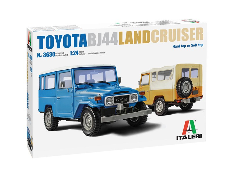 Italeri 1/24 toyota land cruiser bj-44 soft/hard top scatola di montaggio