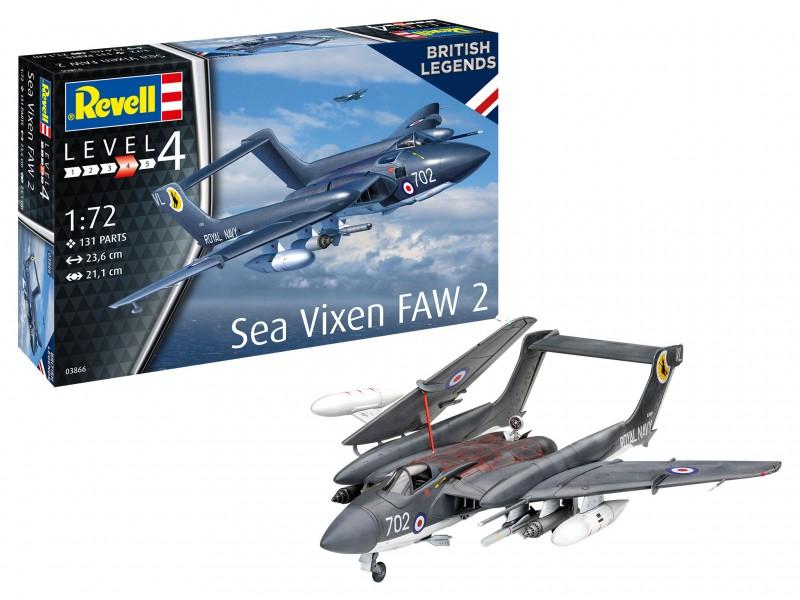 Revell 1/72 Sea Vixen FAW 2 scatola di montaggio