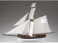 Dusek 1/72 Cutter francese Le Cerf kit modellismo navale in legno