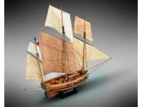 Mamoli 1/54 Le coureur lugger francese del 1776 kit modellismo navale in legno