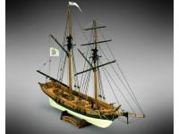 Mamoli 1/57 Privateer Schooner 1775 Black Prince modello da montare in legno