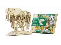 Mr.Playwood elefante modello meccanico in legno da costruire