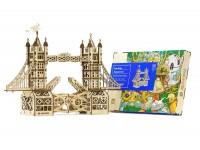 Mr.Playwood Tower Bridge modello meccanico in legno da costruire