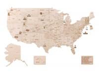 Wood Trick mappa degli Stati Uniti puzzle meccanico 3D