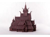 Dusek 1/87 Stavkirke di Gol kit modellismo in legno
