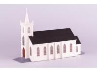 Dusek 1/87 Chiesa di Santa Teresa d'Avila (Bodega, California) scatola di montaggio in legno