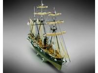 Mamoli 1/120 CSS Alabama nave a vapore scatola di montaggio in legno