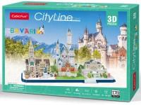 CUBICFUN BAVIERA CITY LINE MODELLO IN PUZZLE 3D