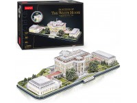 CUBICFUN CASA BIANCA WASHINGTON MODELLO CON LED IN PUZZLE 3D