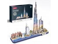 CUBICFUN DUBAI CITY LINE MODELLO CON LED IN PUZZLE 3D